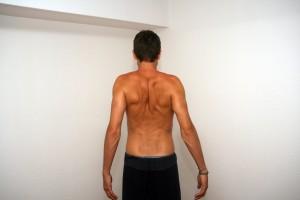 Epaules vers l'arrière