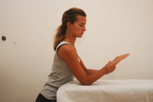 Position de départ (variante avec rotation de l'avant bras)
